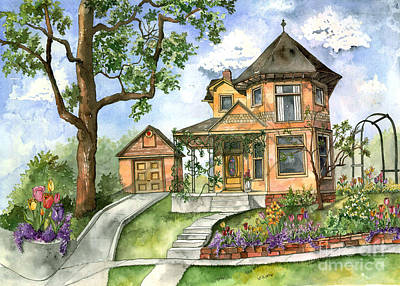 Hilltop Home Print by Shelley Wallace Ylst