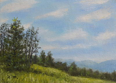 Great Smokey Mountains Painting - Hilltop Meadow by Kathleen McDermott