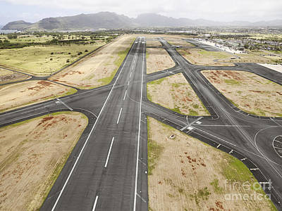 Transportation Photograph - Hilo International Airport Runway, Hawaii by Dani Prints and Images