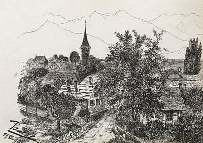 Paul Drawing - Hilterfingen by Paul Klee