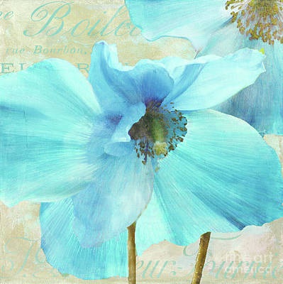 Blue Poppies Painting - Himalayan Blue Poppy by Mindy Sommers