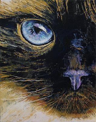 Burmese Cat Print by Michael Creese