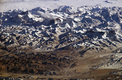Exploration Photograph - Himalayas From Space by Artistic Panda