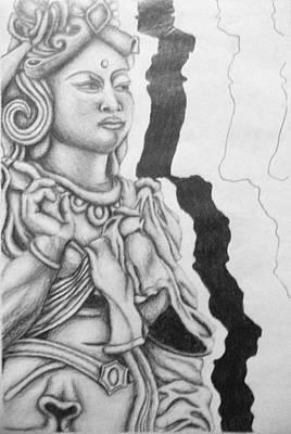 Hindu Goddess Drawing - Hindu Goddess by Ashley Warbritton