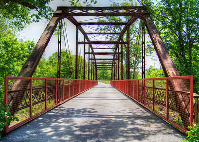 Hinkson Creek Bridge Print by Cricket Hackmann