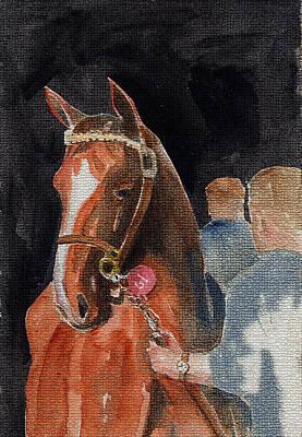 Hip No. 61 Chestnut Colt Print by Arline Wagner