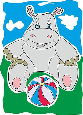 Hippopotamus Mixed Media - Hippo - My Www Vikinek-art.com by Viktor Lebeda