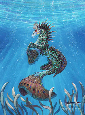 Sealife Painting - Hippocampus by Stanley Morrison