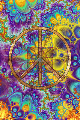 Hippy 1 Psychedelic Print by Sharon and Renee Lozen