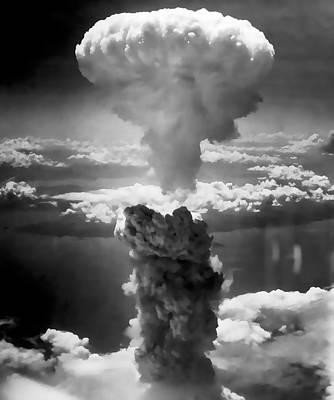 Ground Zero Digital Art - Hiroshima Atom Bomb Blast 1945 by Daniel Hagerman