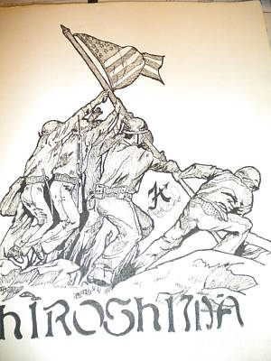 Indian Ink Mixed Media - Hiroshima by Franky A HICKS
