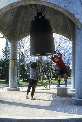 Hiroshima Memorial Peace Bell Print by Bob Phillips