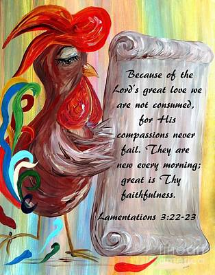 Jesus Painting - His Compassions Are New Every Morning by Eloise Schneider