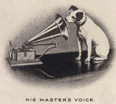 1890s Photograph - His Masters Voice, Originally by Everett