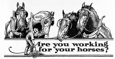Historic  Are You Working Print by Remsberg Inc