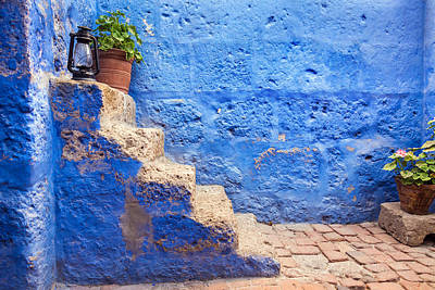 Historic Blue Stairs Print by Jess Kraft