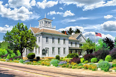 Cupola Painting - Historic Cupola House In Egg Harbor Door County by Christopher Arndt