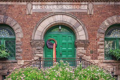 Finger Lakes Photograph - Historic Elks Club Building Geneva New York by Edward Fielding