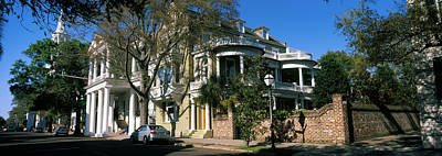 Antebellum Photograph - Historic Houses In A City, Charleston by Panoramic Images