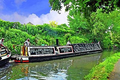 Stratford Mixed Media - Historic Narrowboat President by Peter Allen