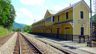 Train Depot Photograph - Historic Passenger Train Depot Thurmond West Virginia by Thomas R Fletcher