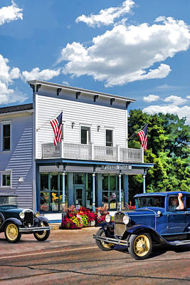 Storefront Painting - Historic Pioneer Store In Ellison Bay Door County by Christopher Arndt