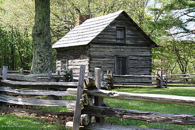 Historic Puckett's Cabin Print by Bill Spittle