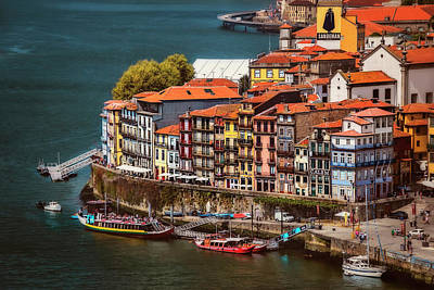 Historic Ribeira Porto  Print by Carol Japp
