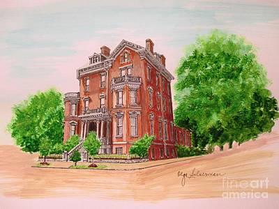Historic Savannah Home Original by Olga Silverman