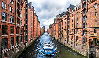 Architecture Photograph - Historic Speicherstadt In Hamburg by JR Photography