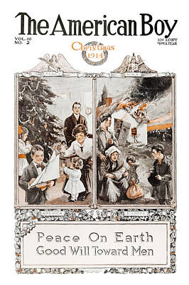 Family Gathering Photograph - Historic The American Boy Cover by Remsberg Inc