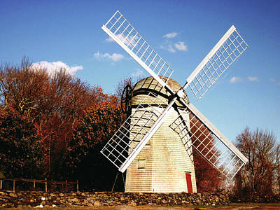 Historical Windmill Print by Lourry Legarde