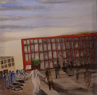 Yoruba Painting - History In Action by Phoenix Rising