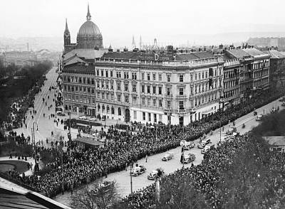 Adolph Photograph - Hitler Enters Vienna by Underwood Archives