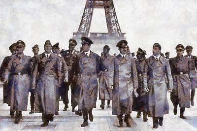 Nazi Painting - Hitler In Paris by Esoterica Art Agency