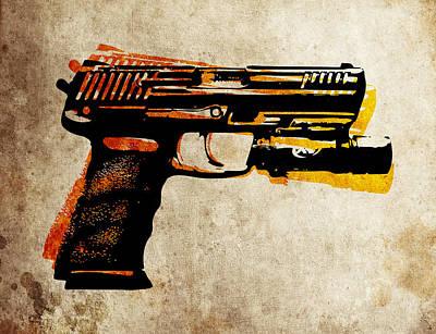 Hk 45 Pistol Print by Michael Tompsett