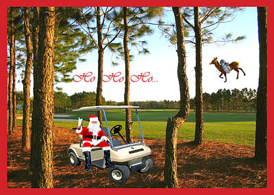 Christmas Cards Digital Art - Ho Ho Ho by Adele Moscaritolo