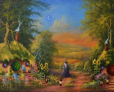 Elf Painting - Hobbiton, Disturbing The Peace  by Joe  Gilronan