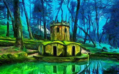 Tolkien Digital Art - Hobbit's Castle - Da by Leonardo Digenio