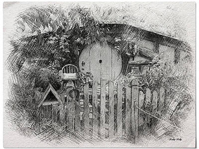 Hobbit's Front Gate Illustration Print by Kathy Kelly