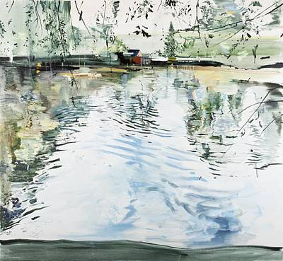 Lakefront Painting - Hobby House And Ripples by Calum McClure