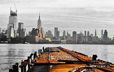 Hoboken Pier Print by Stacey Brooks