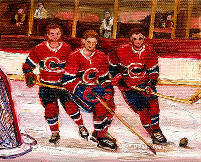 Montreal Forum Painting - Hockey At The Forum by Carole Spandau