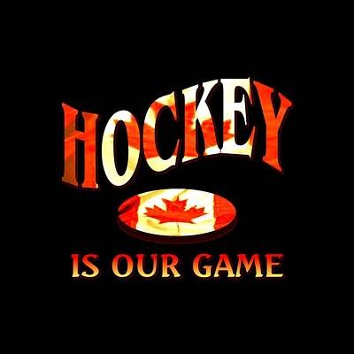 Buy Tshirts Tapestry - Textile - Hockey Is Our Game - Canada Icehockey Tshirt Design by Art America Online Gallery