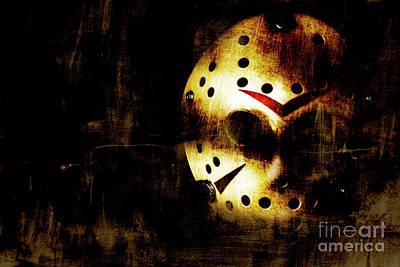Goalie Photograph - Hockey Mask Horror by Jorgo Photography - Wall Art Gallery