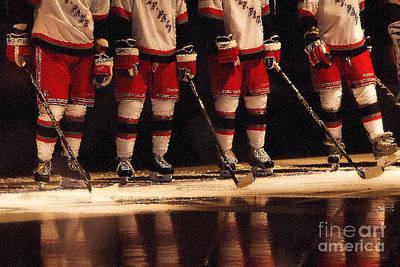 Hockey Reflection Print by Karol Livote