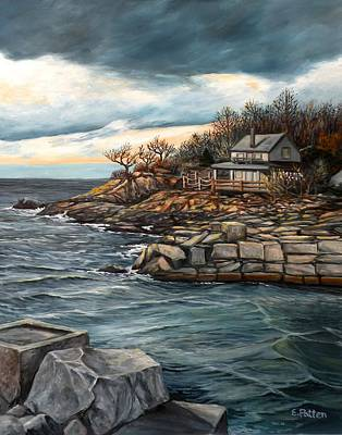 Hodgkins Cove Gloucester Ma Original by Eileen Patten Oliver