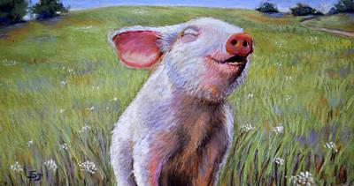Hog Heaven Print by Susan Jenkins