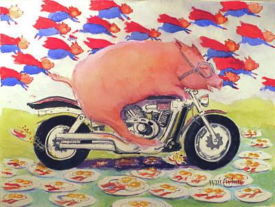 Hog On A Hog Print by Will White