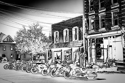 Harley-davidson Photograph - Hogs In Old Forge Ny by David Patterson